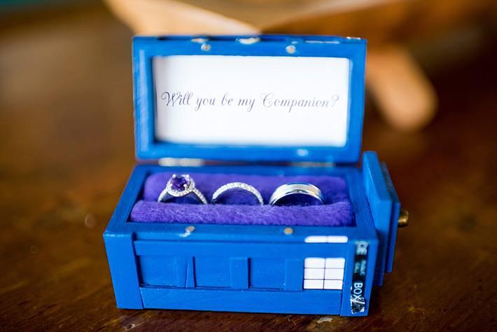 Tardis Wedding Ring Box Tardis Wedding Ring Box
