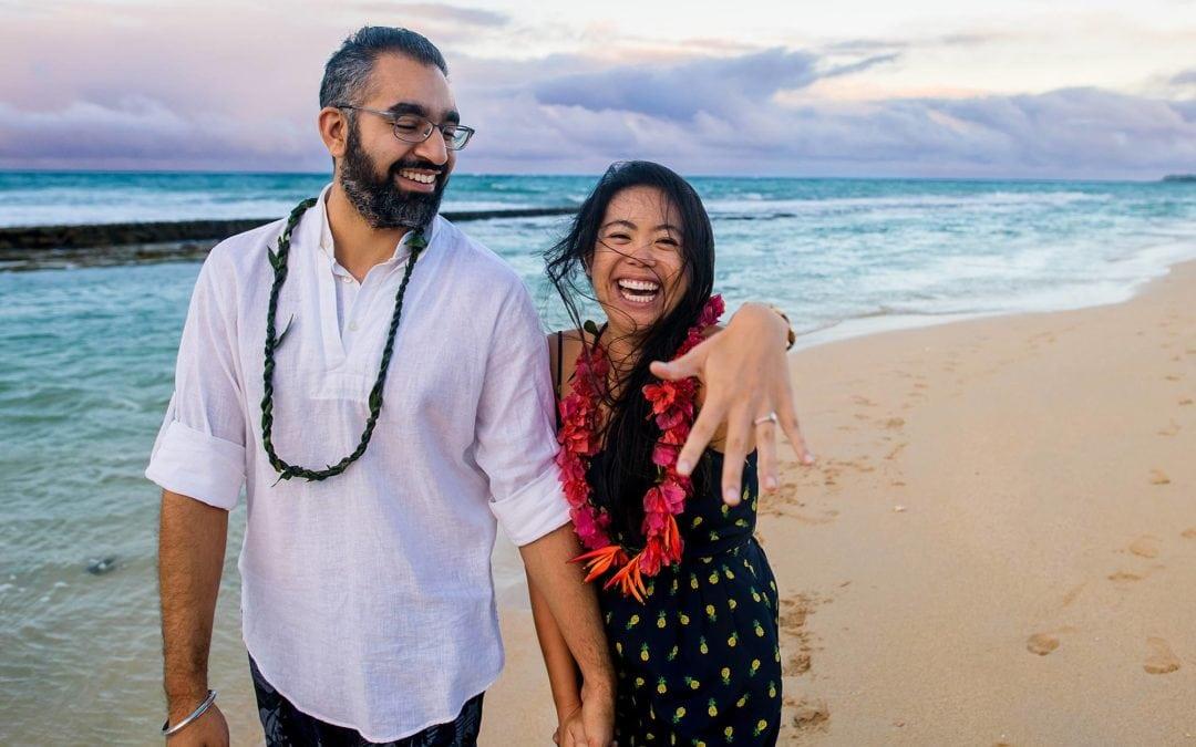 Gorgeous North Shore Maui Beach Proposal   Kristie + Tagh