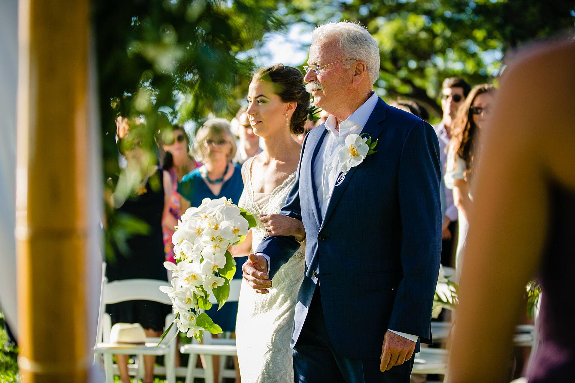 father giving away daughter at wedding