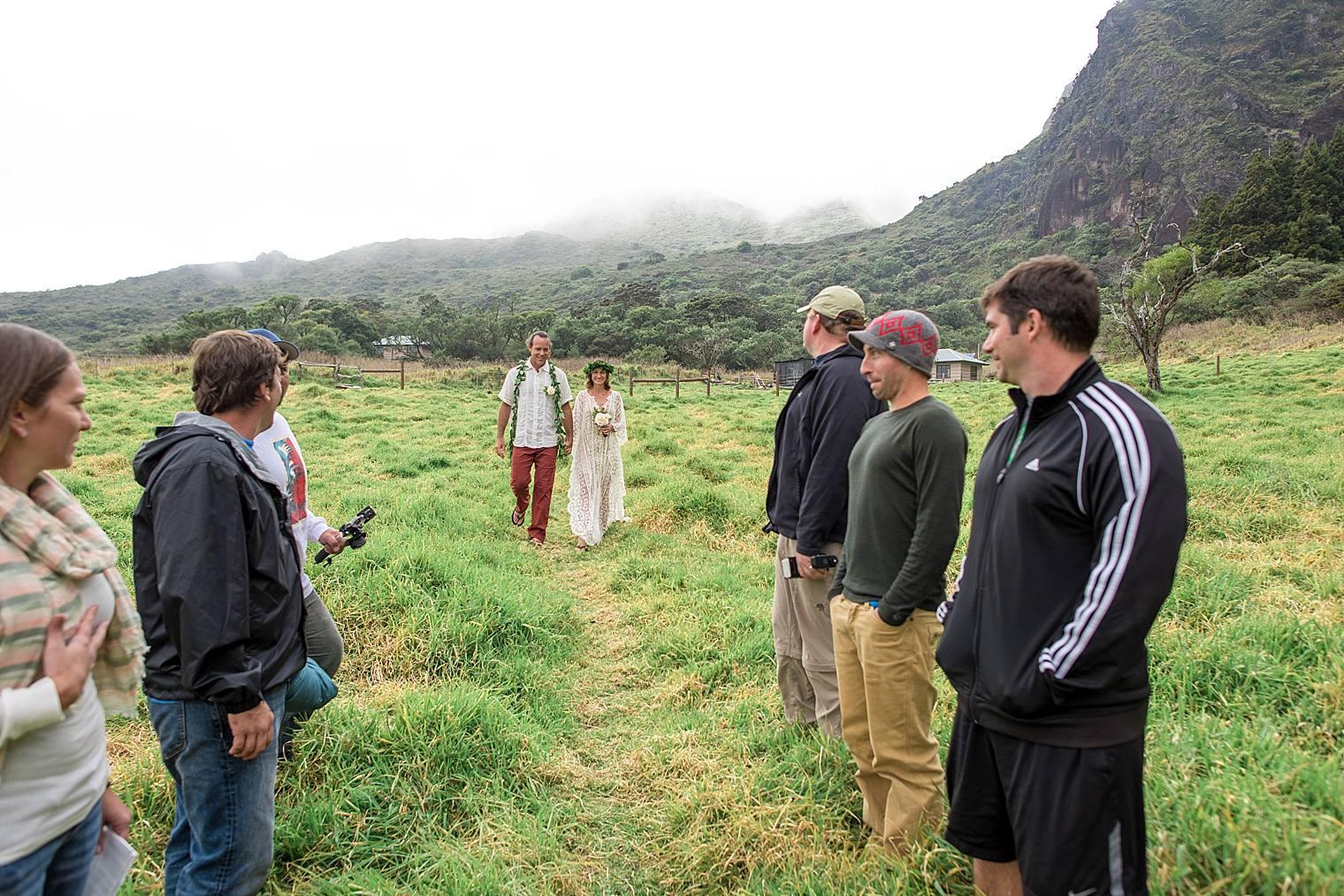 DIY boho wedding in Haleakala National Park