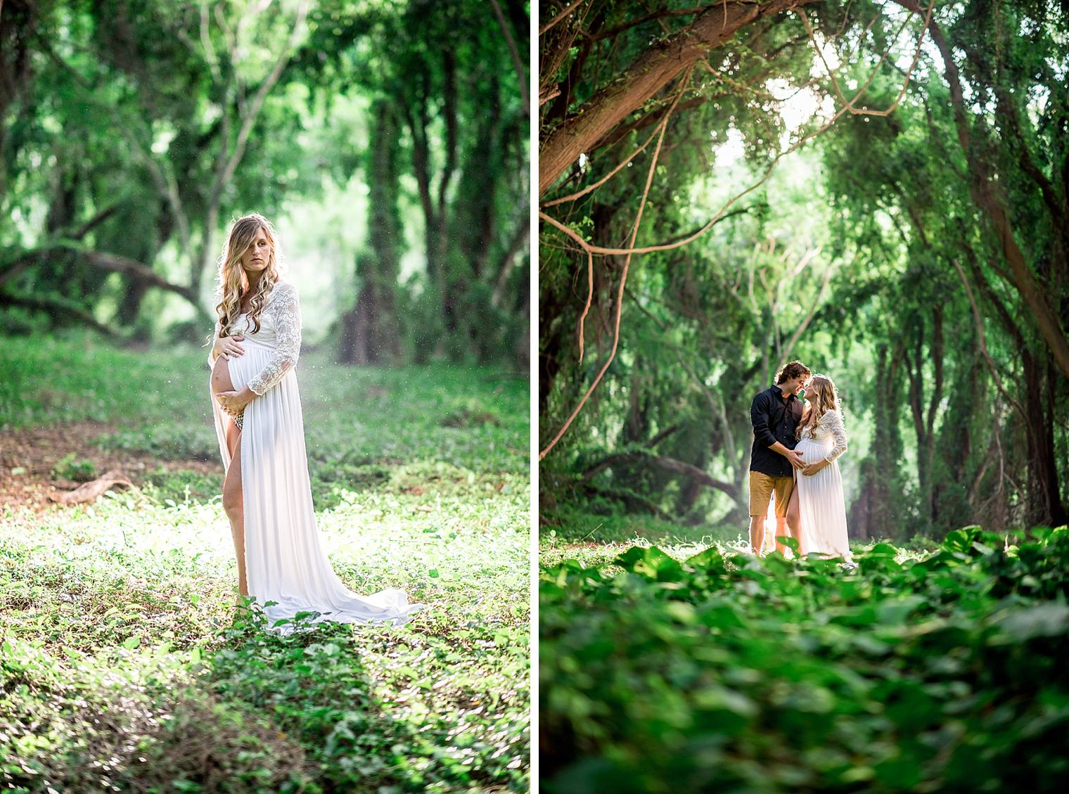 gorgeous maternity photos in the jungle