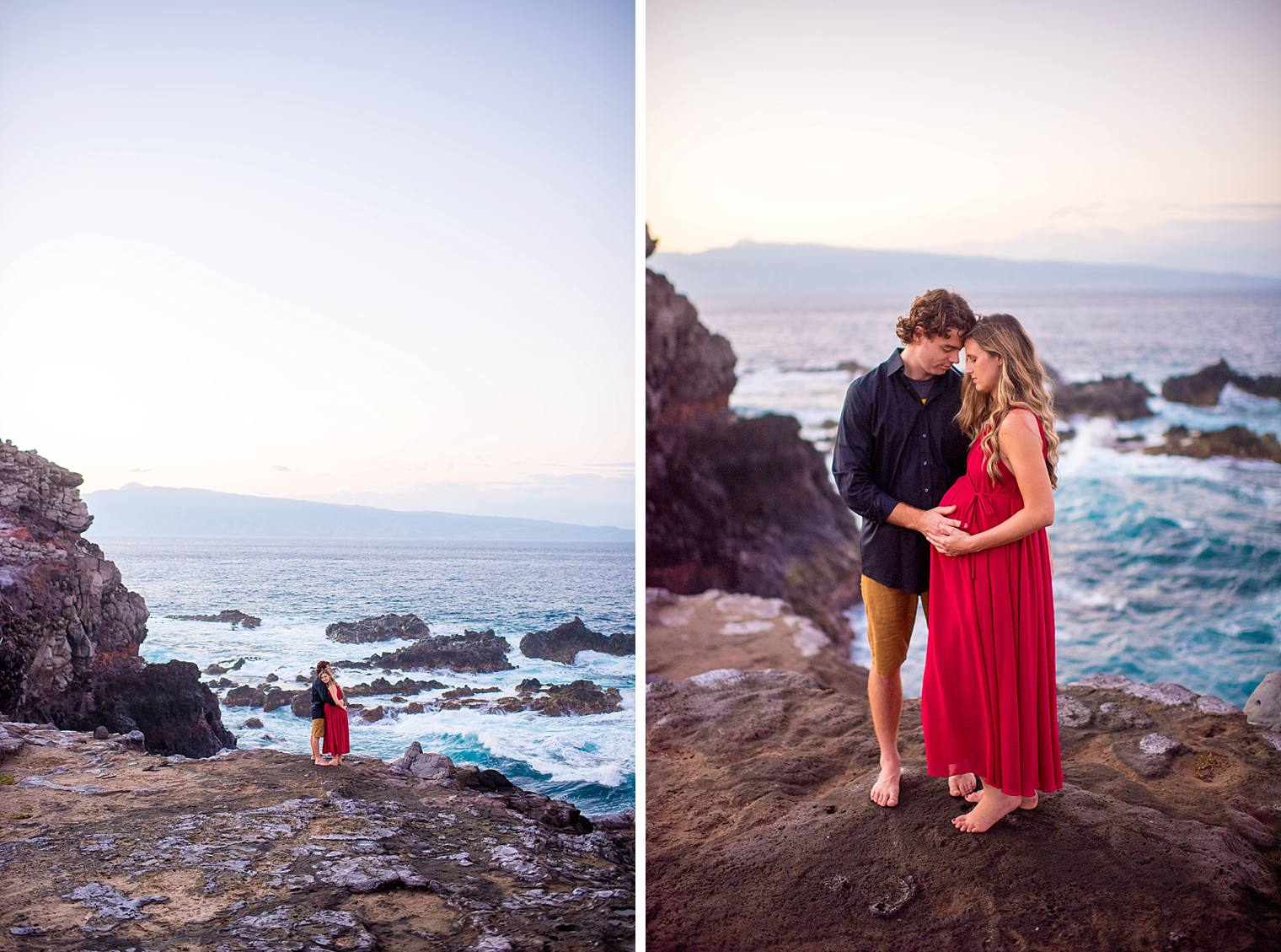 cliffside maui maternity session photography