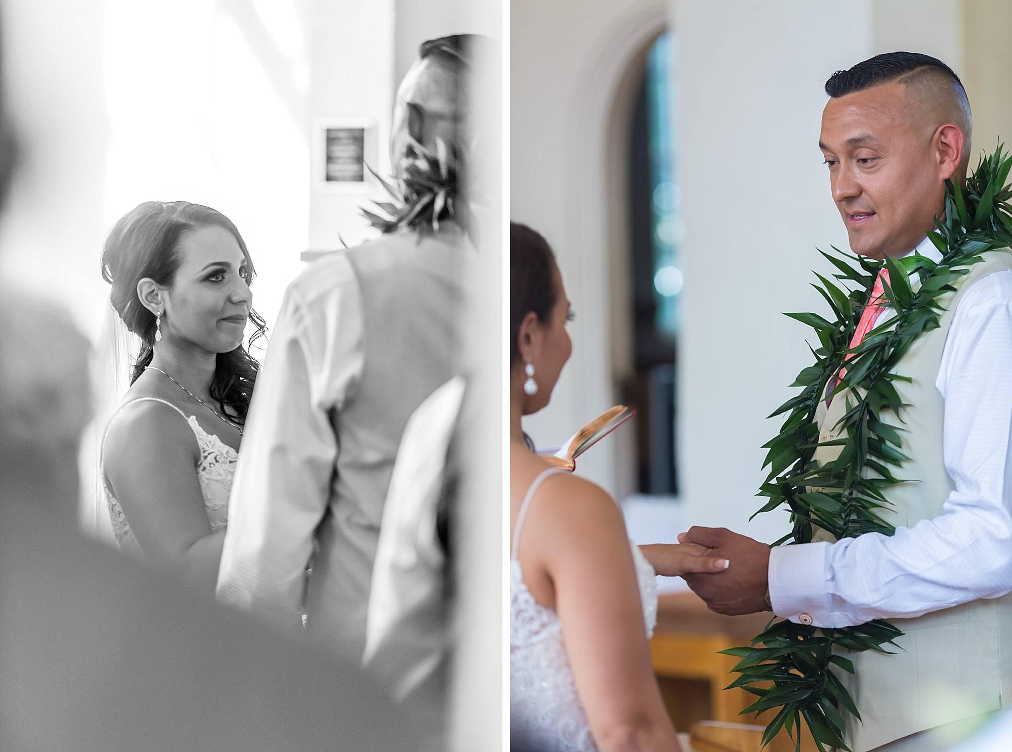 vow exchange at catholic ceremony