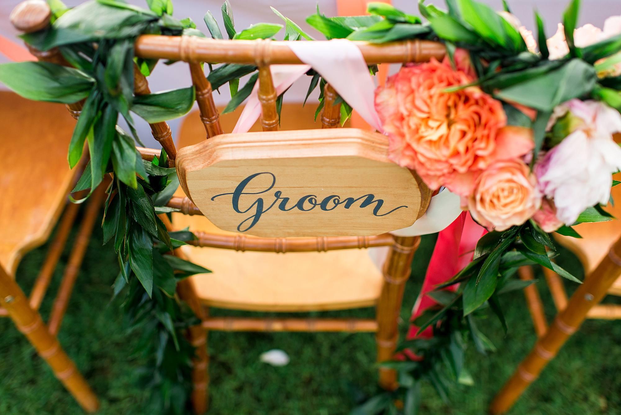 custom calligraphy groom sign
