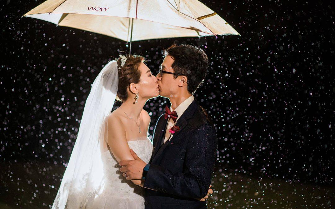 Rainy White Orchid Beach House Wedding | Lok + Jina