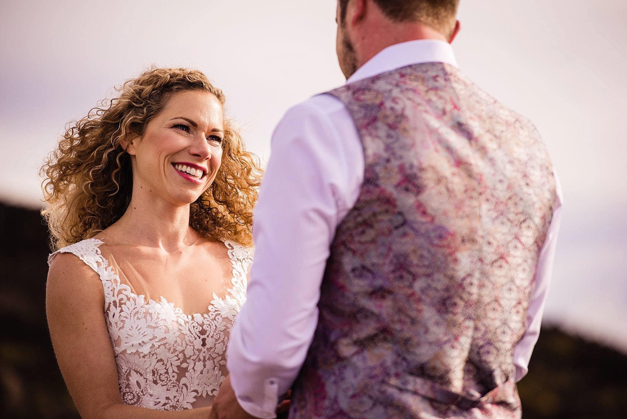 exchanging vows on haleakala