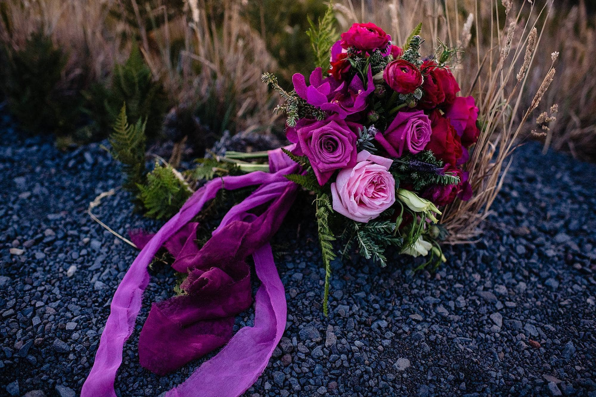 bridal bouquet on haleakala