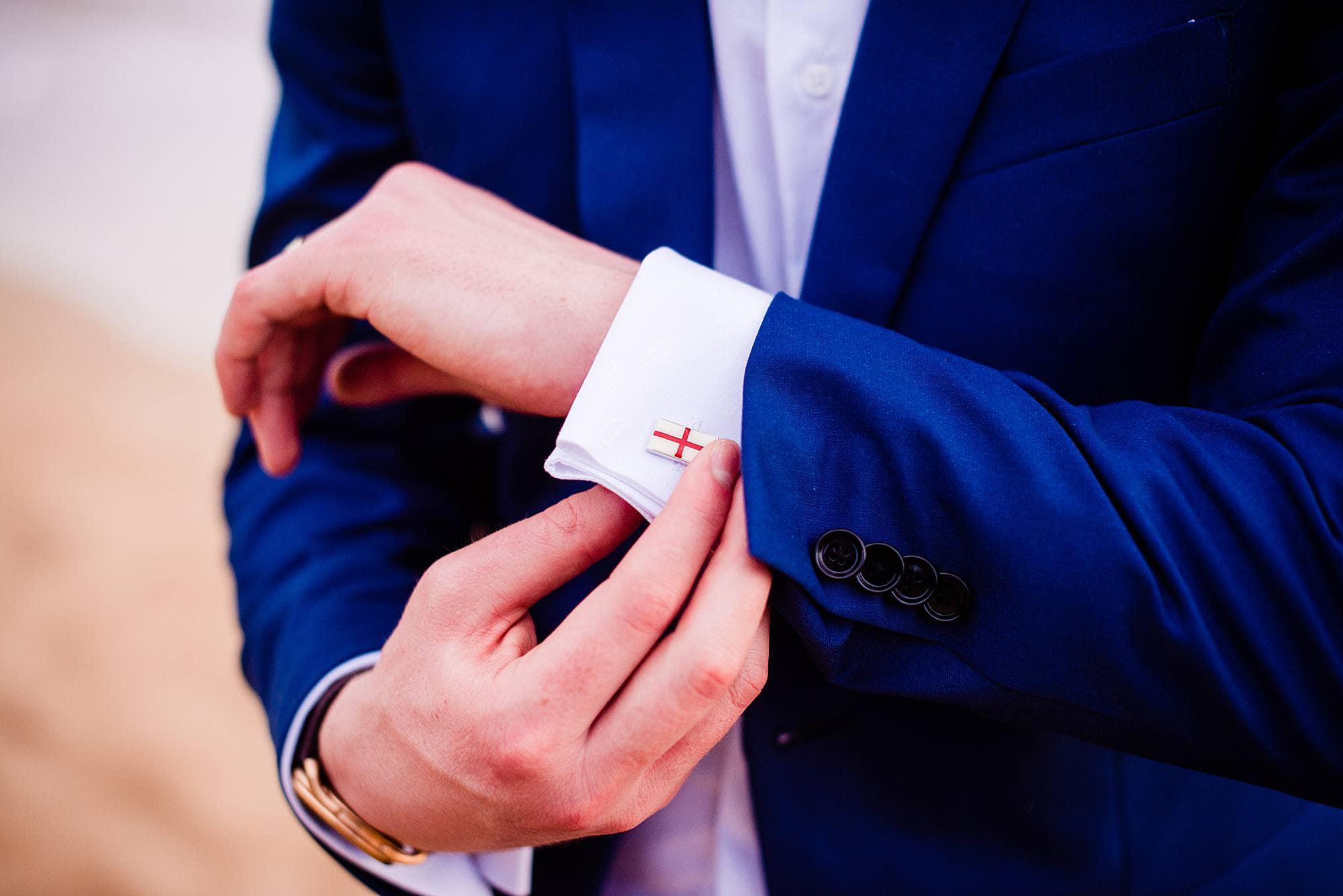 custom swedish cufflinks for groom
