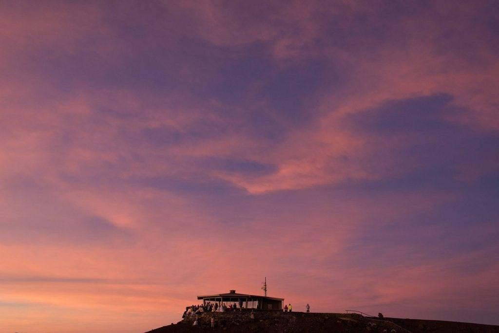 sunrise on haleakala's summit