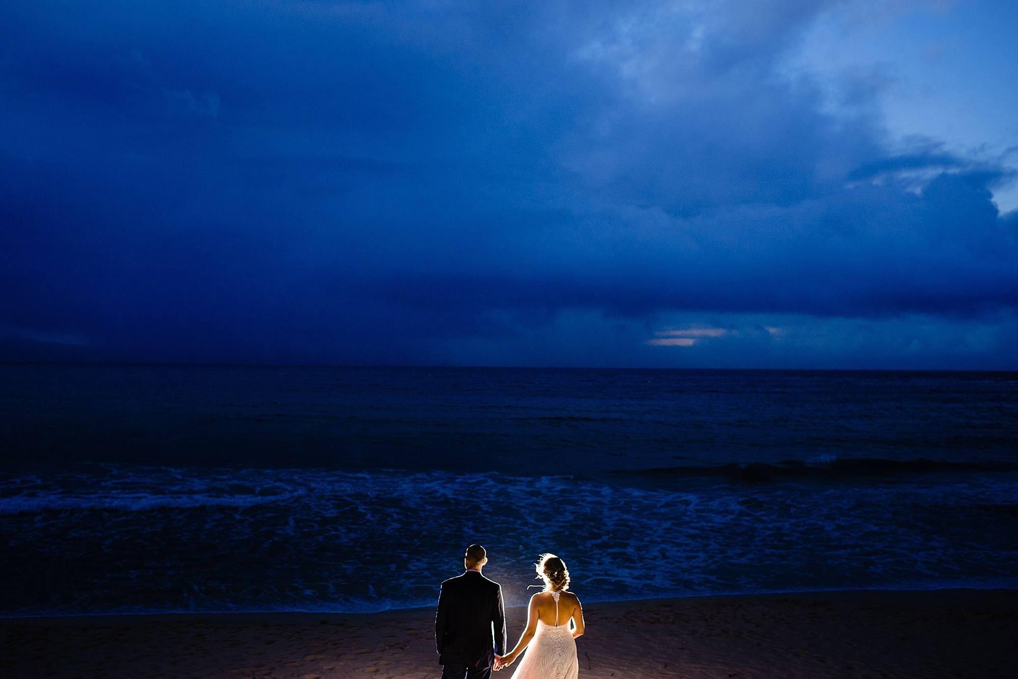 sunset beach shot with backlighting