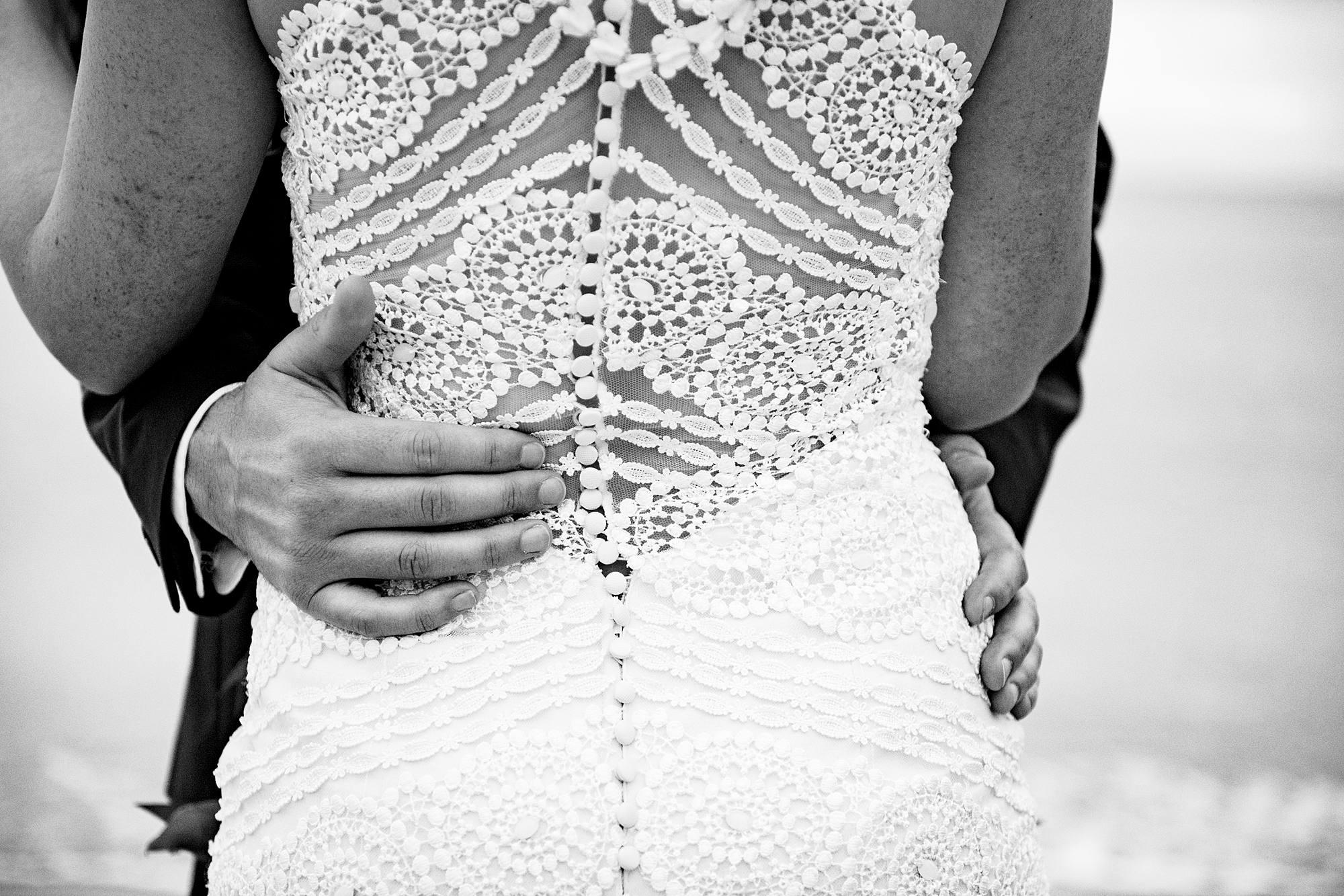 lace back of wedding dress