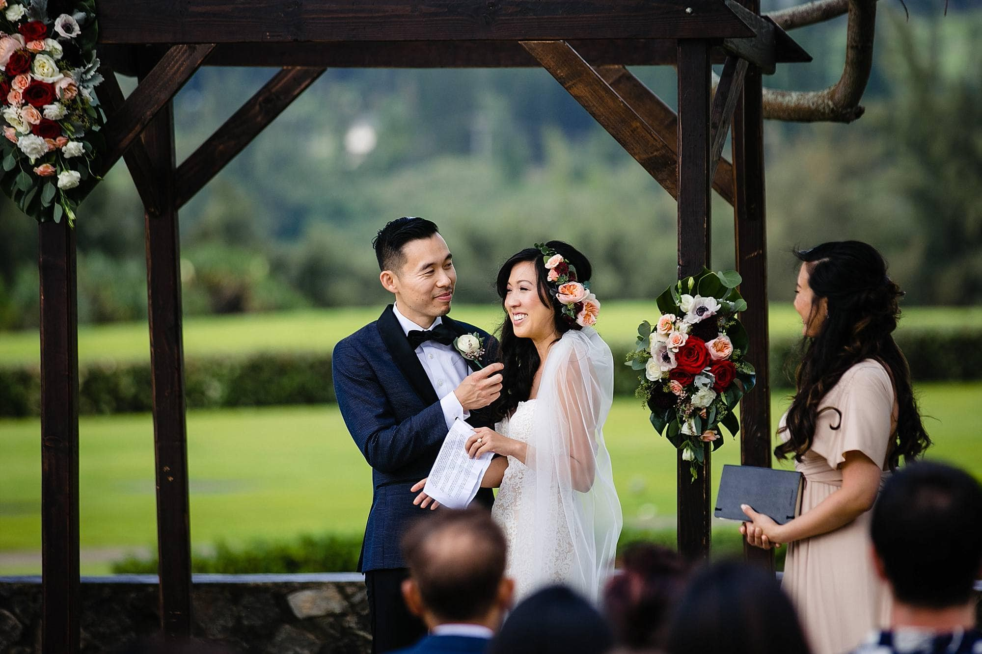 wedding vows at Steeple House Kapalua