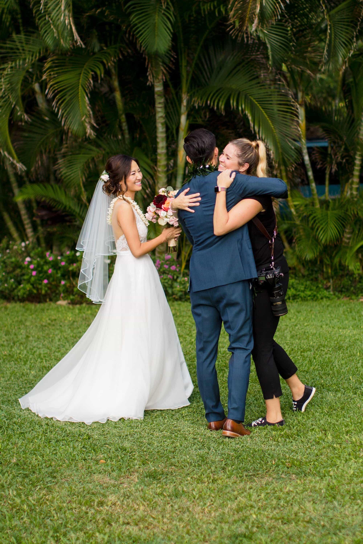 Wedding Couple with Photographer