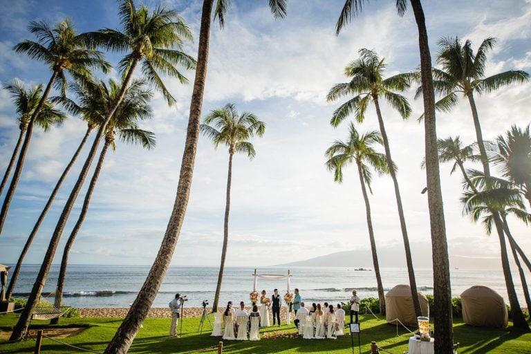 hyatt oceanfront lawn wedding