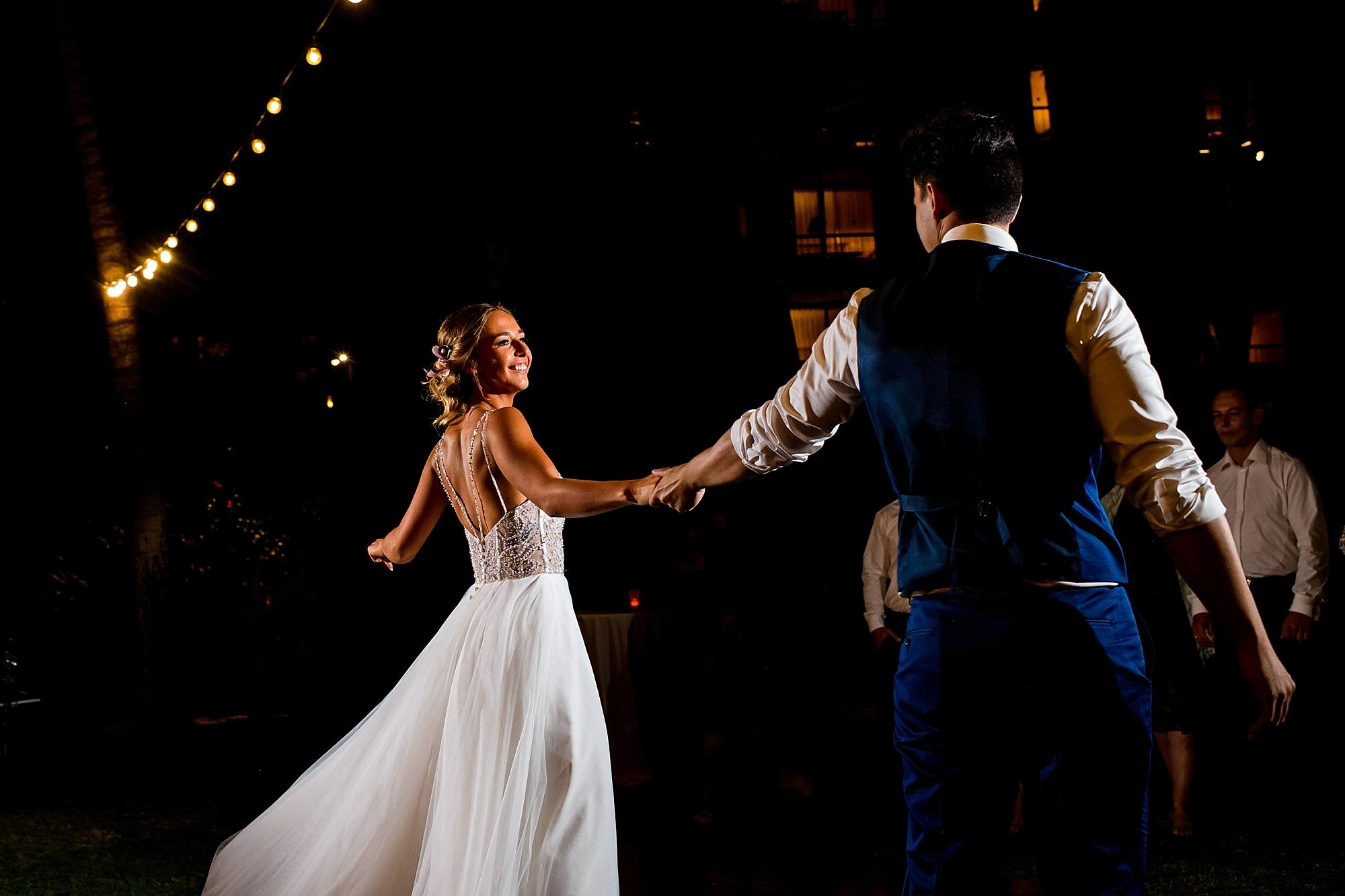 bride and groom choreographed first dance