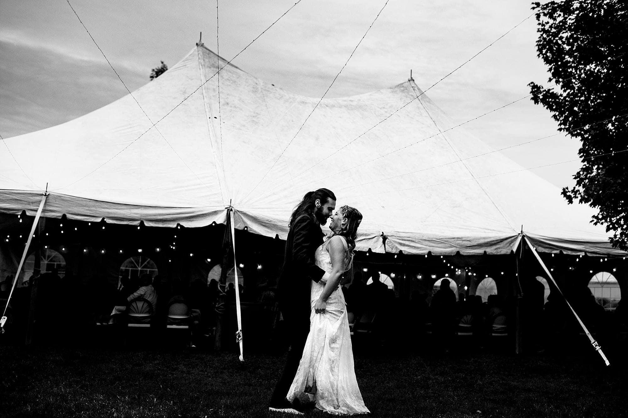 first dance at Michigan wedding