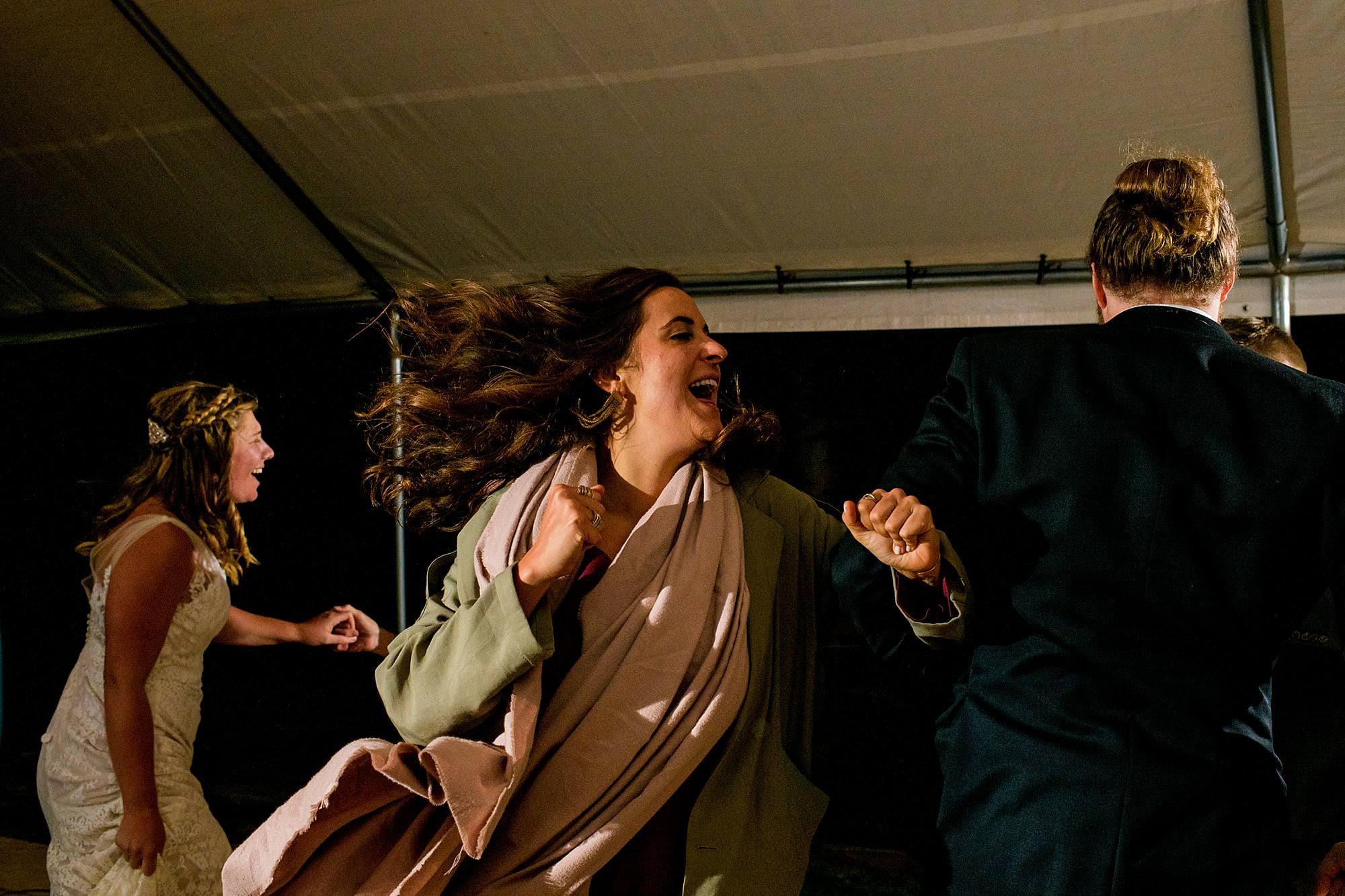 dancing to who hit john at west michigan wedding reception