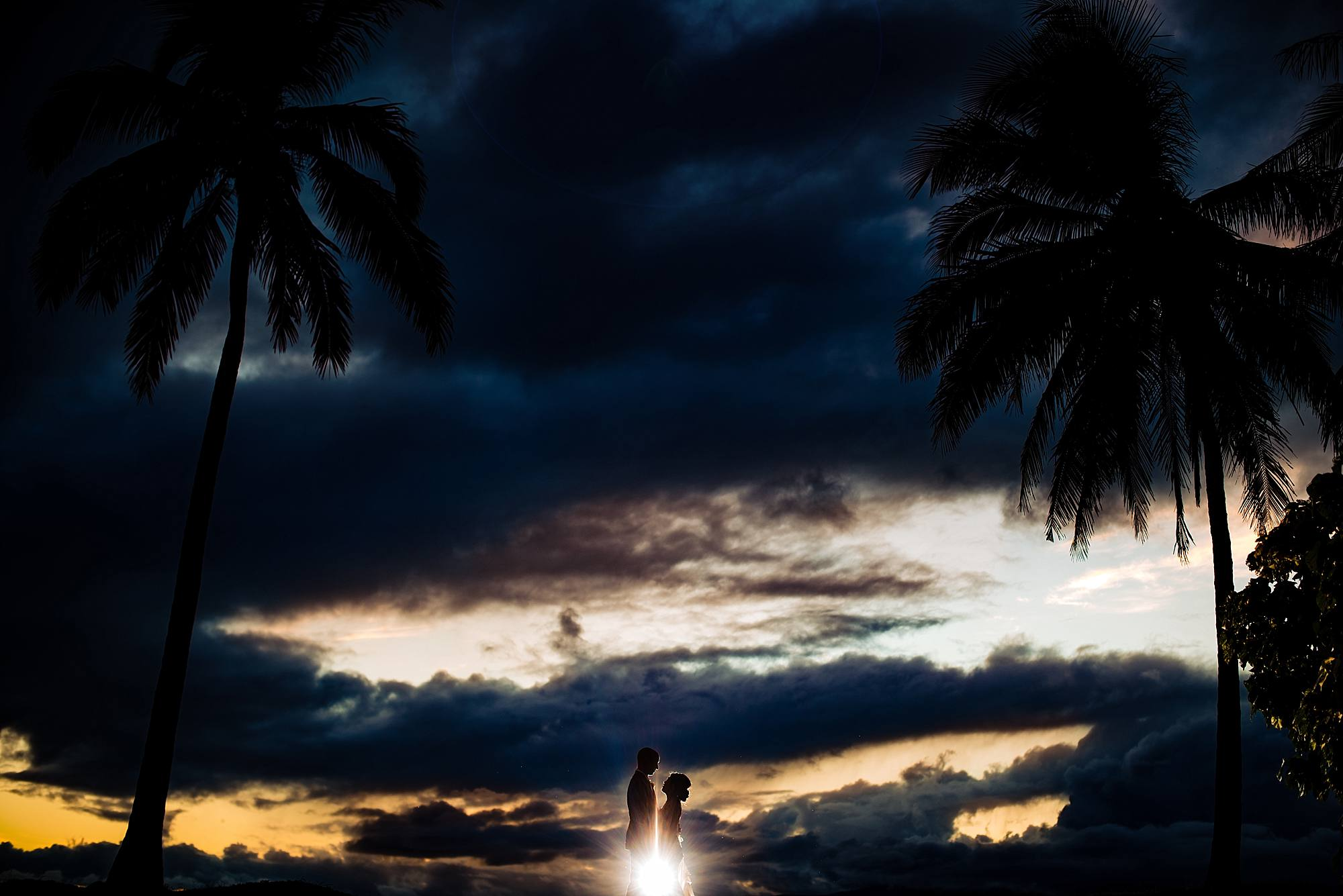 bride and groom portraits after dark at olowalu plantation house