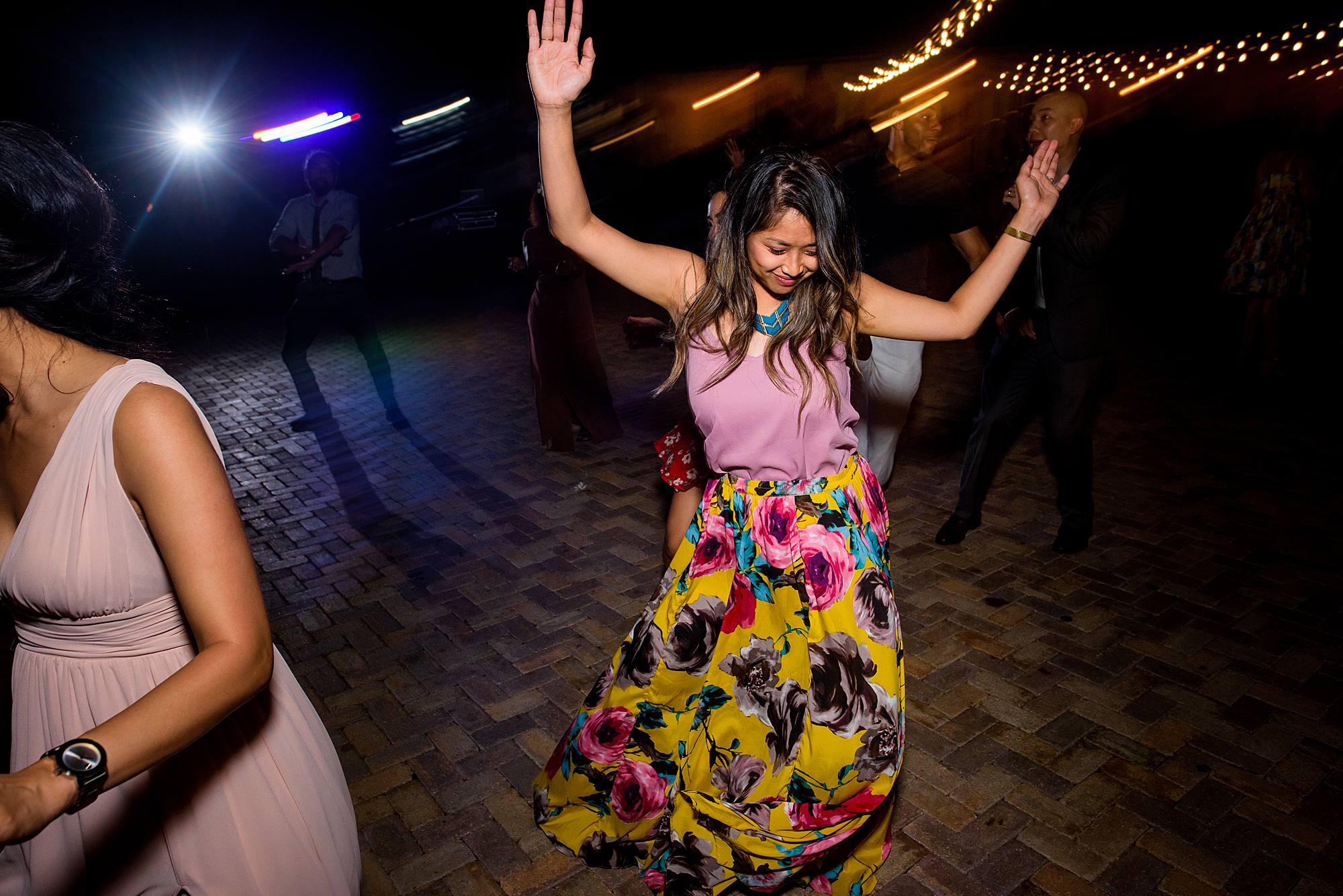 dance floor shots at hawaii wedding