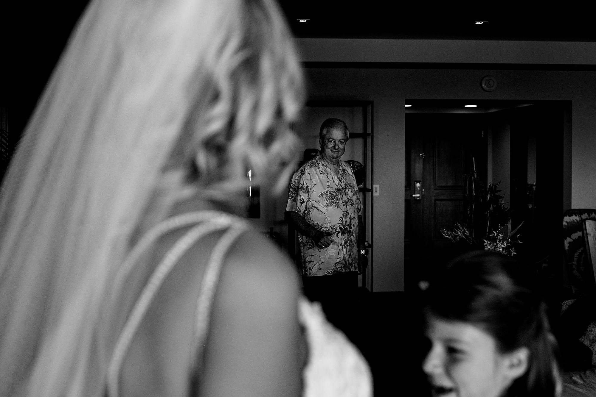 father of the bride looking at his daughter