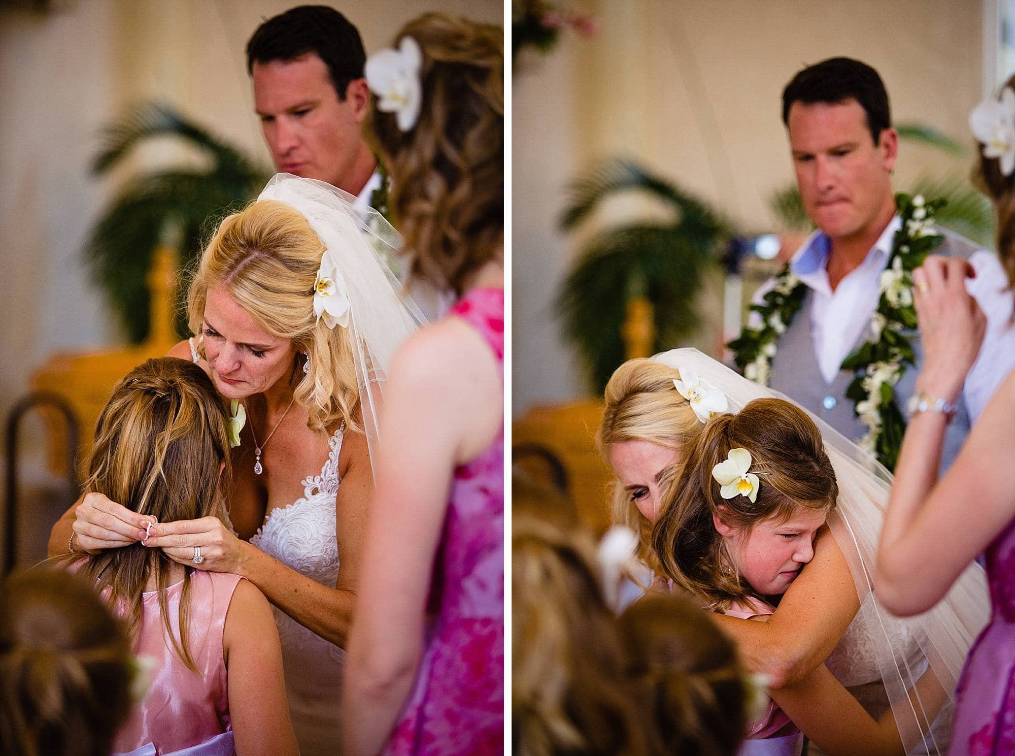 emotional ceremony with daughter of the groom at maria lanikila church