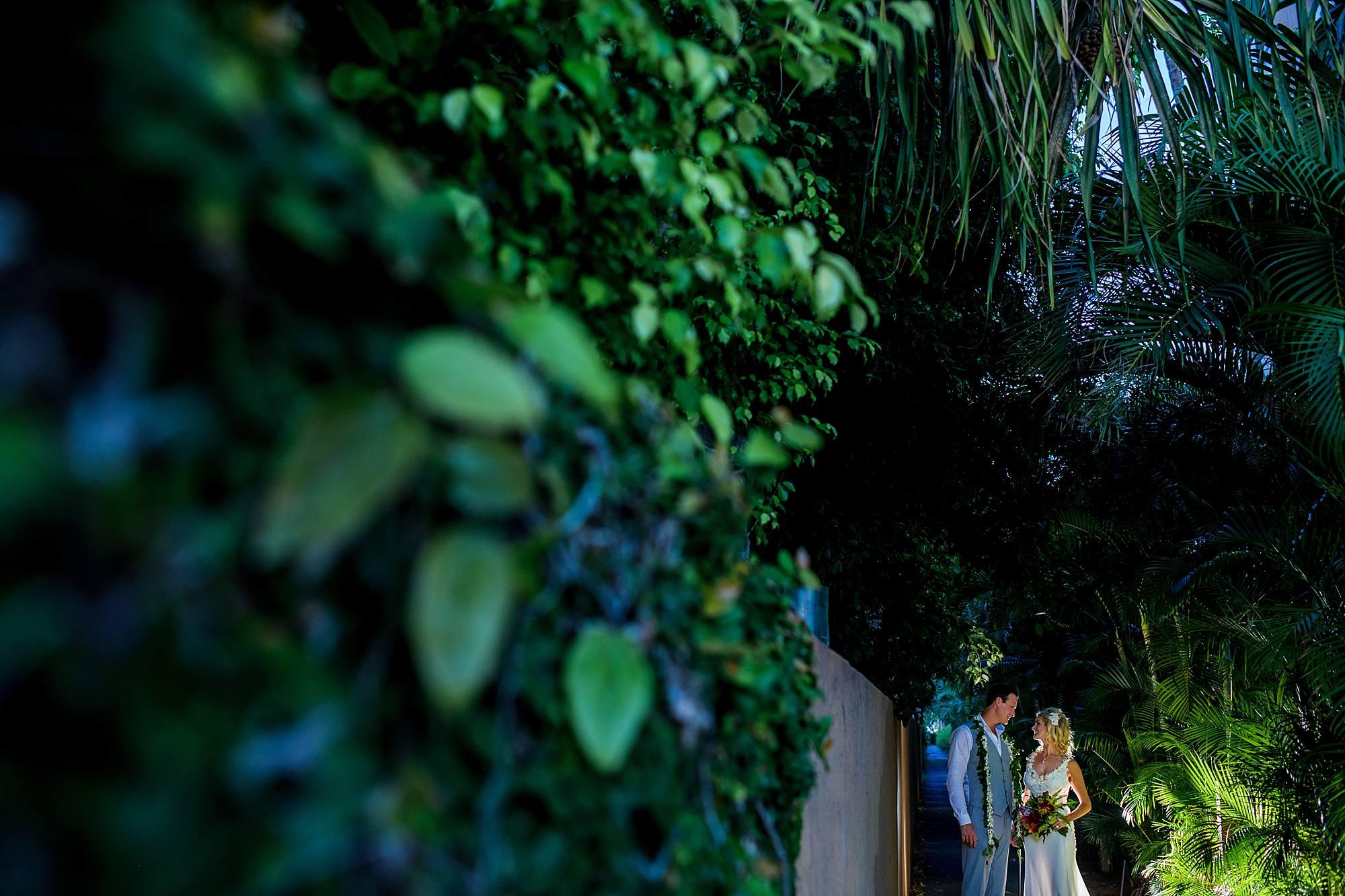 bride and groom portraits at Westin Maui