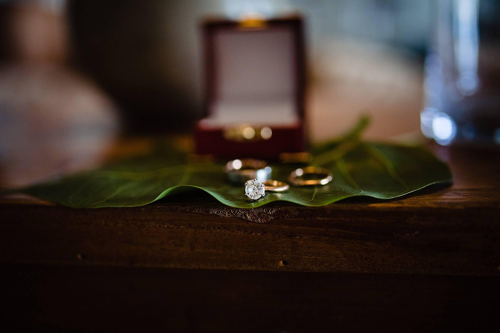 wedding rings at Olowalu Plantation House