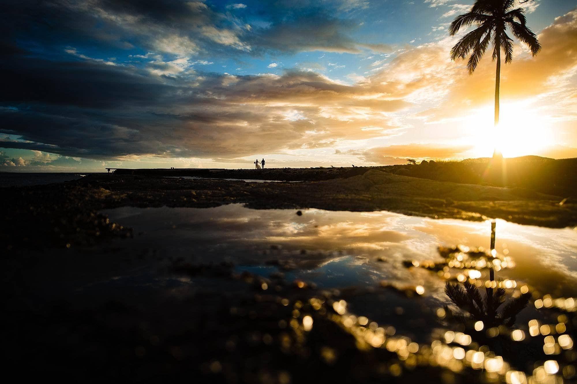 stunning Olowalu Plantation House wedding sunset portrait
