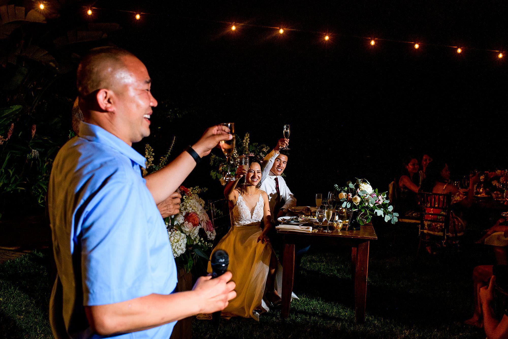 toasts at olowalu plantation house