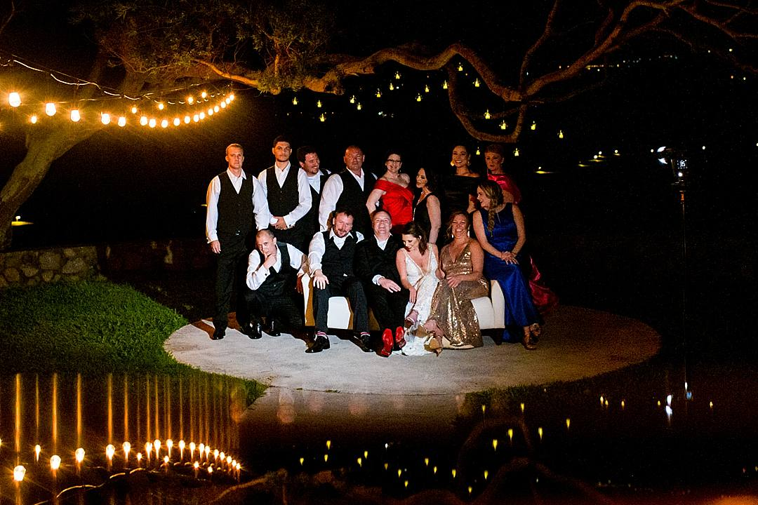 wedding party photo at steeple house kapalua