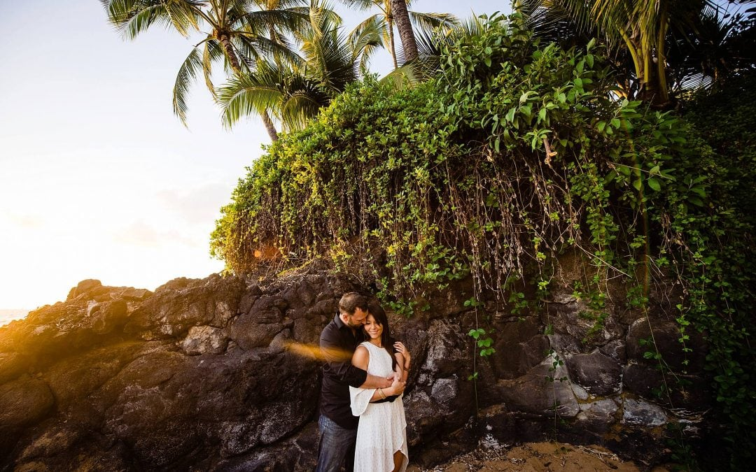 Wailea Beach Engagement Photography