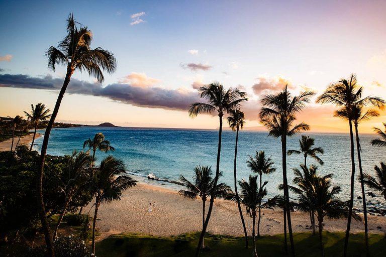 Five Palms Wedding in Maui, Hawaii