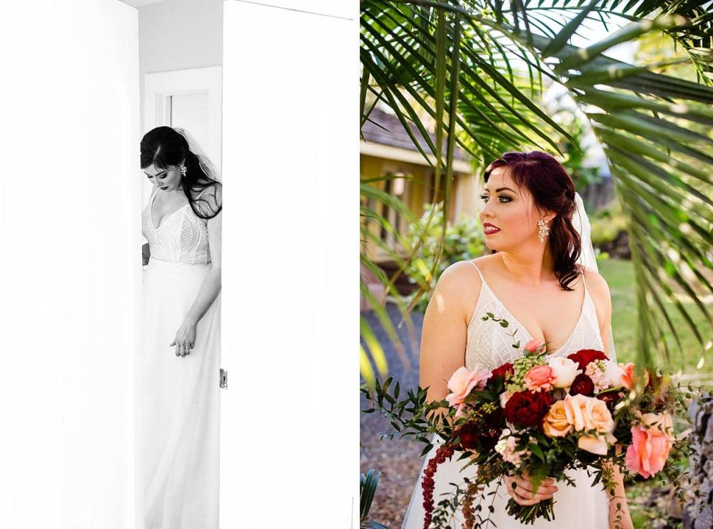 bridal portraits at white orchid beach house