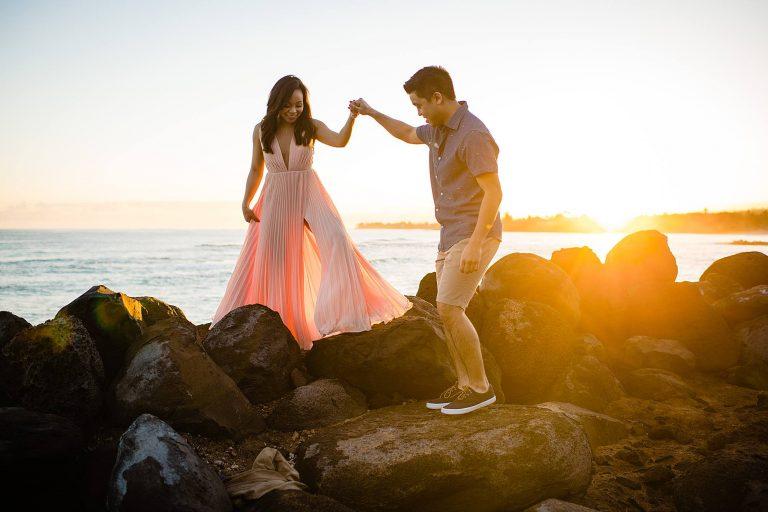 Sunrise Maui Engagement Photographer