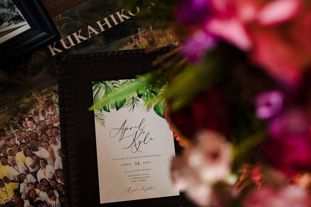 hawaii wedding invitation