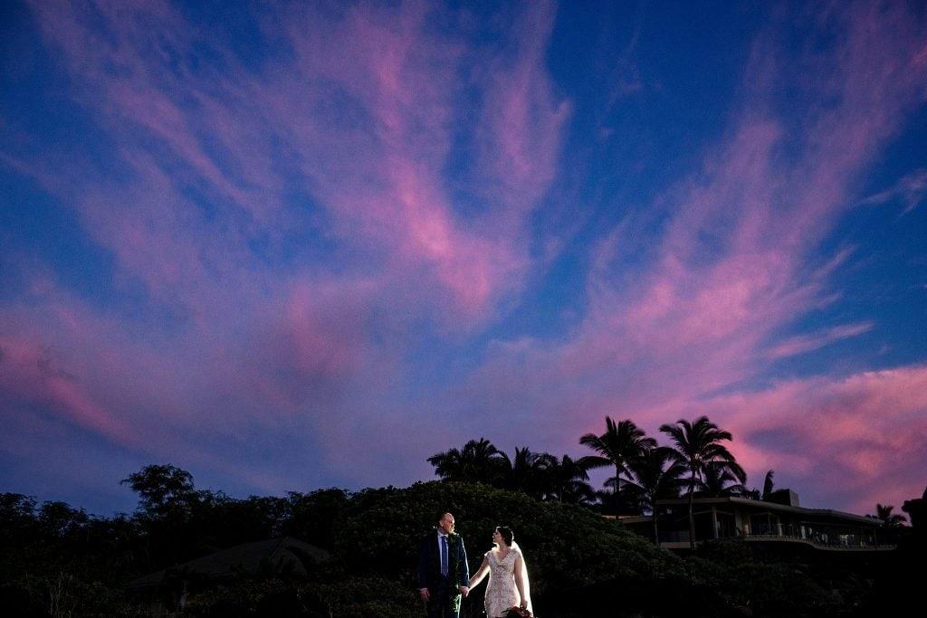 maui sunset wedding