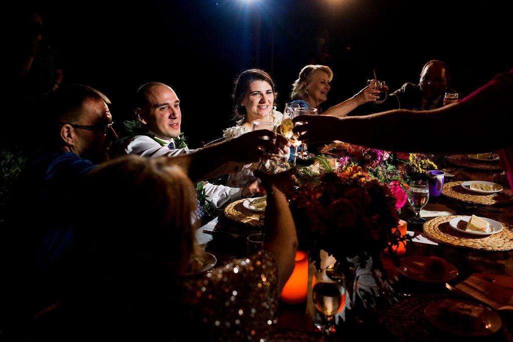 wedding reception toast