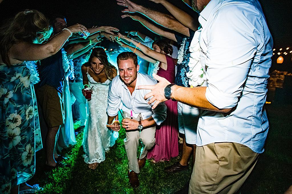 smoke machine wedding exit