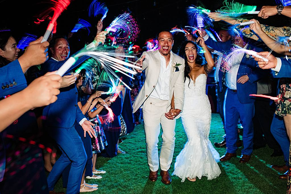 fiber optic wand wedding exit