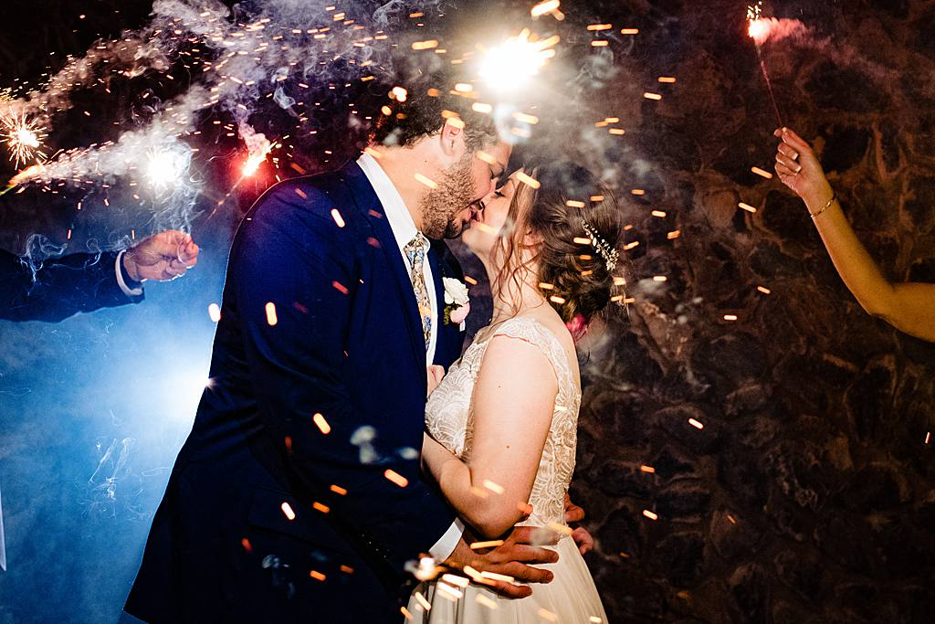 wedding exit with sparklers